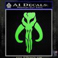 Mythodyno Alien DBF Banda Skull Decal Sticker Lime Green Vinyl 120x120
