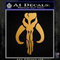Mythodyno Alien DBF Banda Skull Decal Sticker Metallic Gold Vinyl 120x120