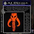 Mythodyno Alien DBF Banda Skull Decal Sticker Orange Vinyl Emblem 120x120