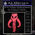 Mythodyno Alien DBF Banda Skull Decal Sticker Pink Vinyl Emblem 120x120