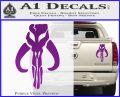Mythodyno Alien DBF Banda Skull Decal Sticker Purple Vinyl 120x97