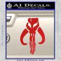 Mythodyno Alien DBF Banda Skull Decal Sticker Red Vinyl 120x120