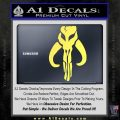 Mythodyno Alien DBF Banda Skull Decal Sticker Yellow Vinyl 120x120