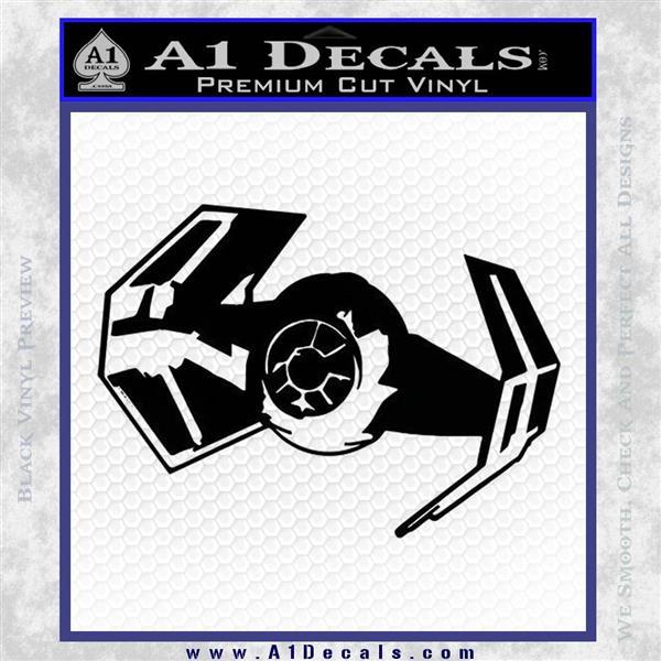 Overlord Twin Ion Engine Spaceship DTF Decal Sticker Black Vinyl Logo Emblem