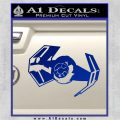 Overlord Twin Ion Engine Spaceship DTF Decal Sticker Blue Vinyl 120x120