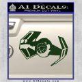 Overlord Twin Ion Engine Spaceship DTF Decal Sticker Dark Green Vinyl 120x120