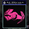 Overlord Twin Ion Engine Spaceship DTF Decal Sticker Hot Pink Vinyl 120x120