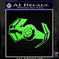 Overlord Twin Ion Engine Spaceship DTF Decal Sticker Lime Green Vinyl 120x120