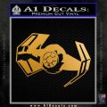 Overlord Twin Ion Engine Spaceship DTF Decal Sticker Metallic Gold Vinyl 120x120