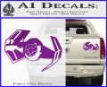 Overlord Twin Ion Engine Spaceship DTF Decal Sticker Purple Vinyl 120x97