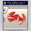 Overlord Twin Ion Engine Spaceship DTF Decal Sticker Red Vinyl 120x120