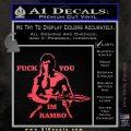 Rambo Decal Sticker Fuck You Im Pink Vinyl Emblem 120x120