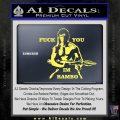 Rambo Decal Sticker Fuck You Im Yellow Vinyl 120x120
