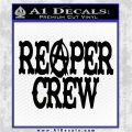 Reaper Crew Decal Sticker Sons of Anarchy Black Vinyl Logo Emblem 120x120