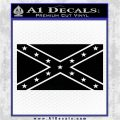 Rebel Flag Decal Sticker D1 southern Pride Black Vinyl Logo Emblem 120x120