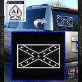 Rebel Flag Decal Sticker D2 southern Pride White Vinyl Emblem 120x120