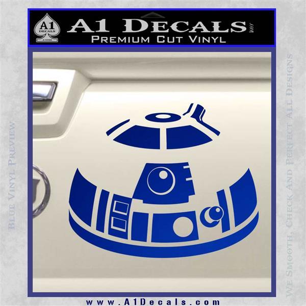 Robot D2 Decal Sticker DH5 Blue Vinyl