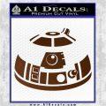 Robot D2 Decal Sticker DH5 Brown Vinyl 120x120