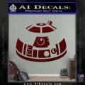 Robot D2 Decal Sticker DH5 Dark Red Vinyl 120x120