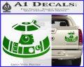Robot D2 Decal Sticker DH5 Green Vinyl 120x97