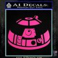 Robot D2 Decal Sticker DH5 Hot Pink Vinyl 120x120