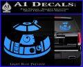 Robot D2 Decal Sticker DH5 Light Blue Vinyl 120x97