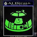 Robot D2 Decal Sticker DH5 Lime Green Vinyl 120x120