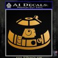 Robot D2 Decal Sticker DH5 Metallic Gold Vinyl 120x120