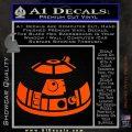 Robot D2 Decal Sticker DH5 Orange Vinyl Emblem 120x120