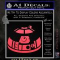 Robot D2 Decal Sticker DH5 Pink Vinyl Emblem 120x120