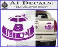 Robot D2 Decal Sticker DH5 Purple Vinyl 120x97