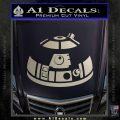 Robot D2 Decal Sticker DH5 Silver Vinyl 120x120