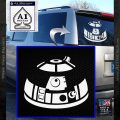 Robot D2 Decal Sticker DH5 White Vinyl Emblem 120x120