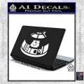 Robot D2 Decal Sticker DH5 White Vinyl Laptop 120x120