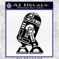 Robot D2 Neat Decal Sticker Black Vinyl Logo Emblem 120x120