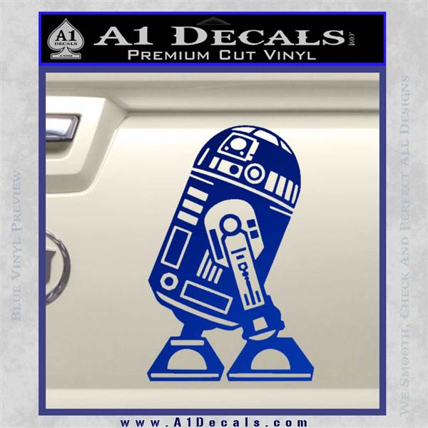 Robot D2 Neat Decal Sticker Blue Vinyl