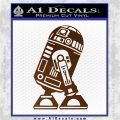 Robot D2 Neat Decal Sticker Brown Vinyl 120x120