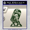 Robot D2 Neat Decal Sticker Dark Green Vinyl 120x120