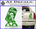 Robot D2 Neat Decal Sticker Green Vinyl 120x97