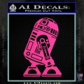 Robot D2 Neat Decal Sticker Hot Pink Vinyl 120x120