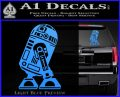 Robot D2 Neat Decal Sticker Light Blue Vinyl 120x97
