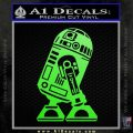 Robot D2 Neat Decal Sticker Lime Green Vinyl 120x120