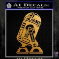 Robot D2 Neat Decal Sticker Metallic Gold Vinyl 120x120