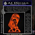 Robot D2 Neat Decal Sticker Orange Vinyl Emblem 120x120