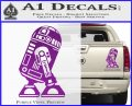 Robot D2 Neat Decal Sticker Purple Vinyl 120x97