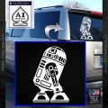 Robot D2 Neat Decal Sticker White Vinyl Emblem 120x120
