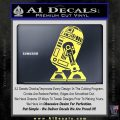 Robot D2 Neat Decal Sticker Yellow Vinyl 120x120