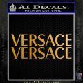 Versace Logo Decal Sticker 2pk Metallic Gold Vinyl 120x120