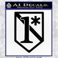 1 Ass To Risk Asterisk V3 Decal Sticker Black Vinyl Logo Emblem 120x120