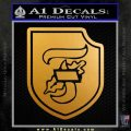 10th SS Division Decal Sticker Nazi Metallic Gold Vinyl 120x120